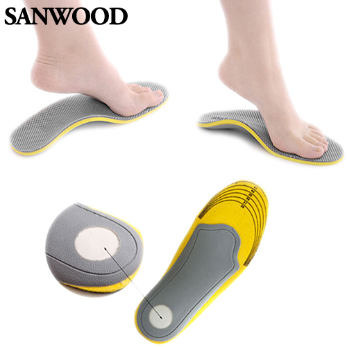 Pair 3D Premium Comfortable Orthotic Shoes Insoles Inserts High Arch Support Pad for women men 01XM 4ONI 2017 gel 3d support flat feet for women men orthotic insole foot pain arch pad high support premium orthotic gel arch insoles