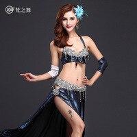 2017 الجديدة النساء رقص البطن أداء الرقص زي الرقص 4 صورة كاملة مجموعة الصدرية و تنورة و الذراع مجموعات دبوس s/m/l GT-1036 #