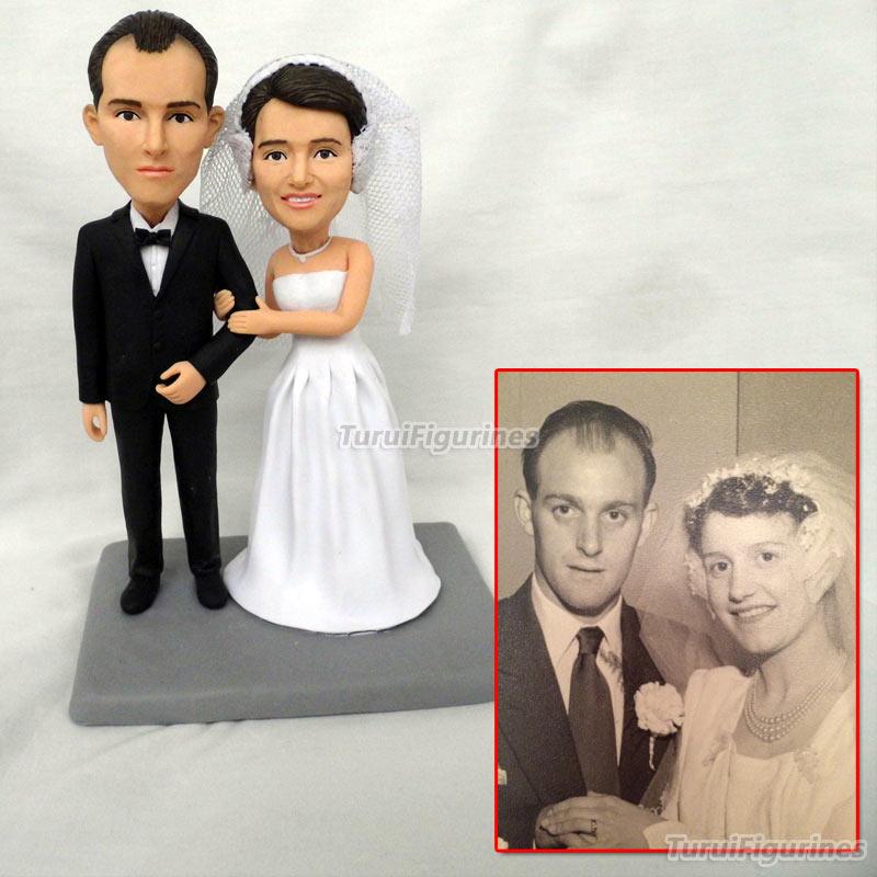 На Заказ Свадебный торт Топпер поплавок фигурки из ваших фотографий реальные люди лицо Фигурка Скульптура мини Статуэтка куклы