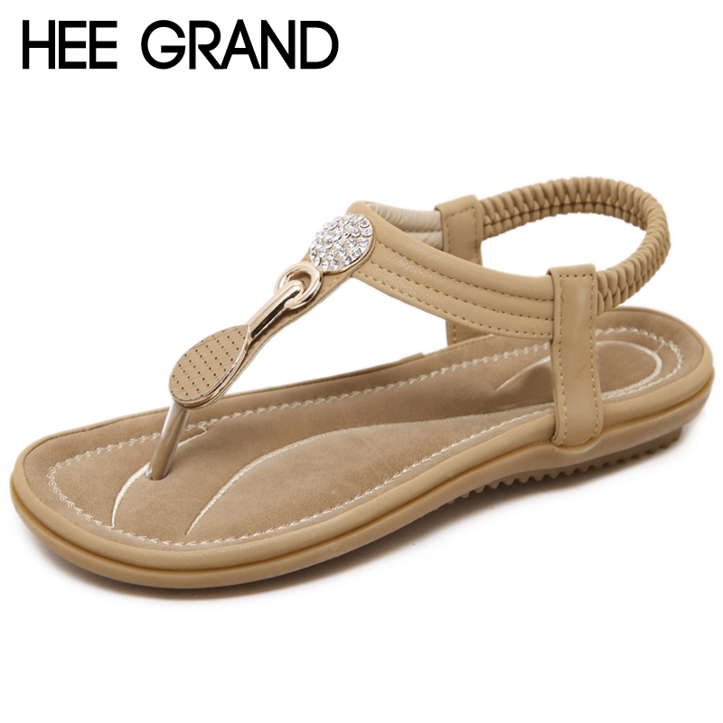 HEE GRAND Summer Gladiator Sandals 2018 New Platform Flip Flops Flats Casual Slip On Shoes Flat Woman Size 35-42 XWZ4914 hee grand bohemia flip flops summer gladiator sandals beach flat shoes woman comfort casual women shoes size 35 42 xwz4429