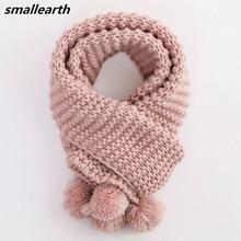 Осень-зима теплые детские хлопковый шарф для девочек, для мальчиков, с круглой горловиной, детские вязаные шарфы и шали, Детская Костюмы аксессуары