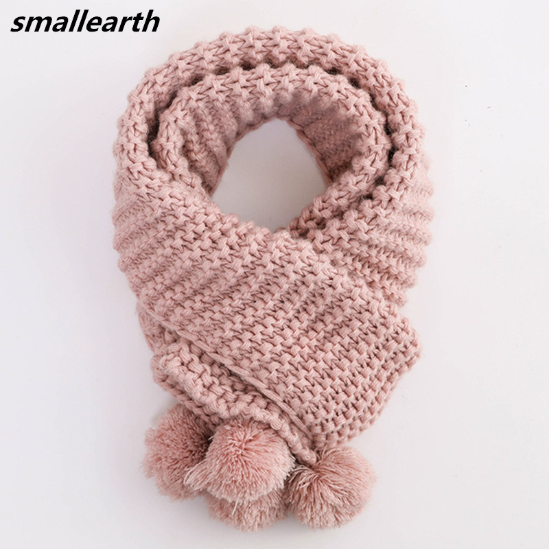 2019 Autumn Winter Warm Baby Long Cotton Scarf Boys Girls Neck Collar Kids Knitted Scarves Shawl Children Clothing Accessories