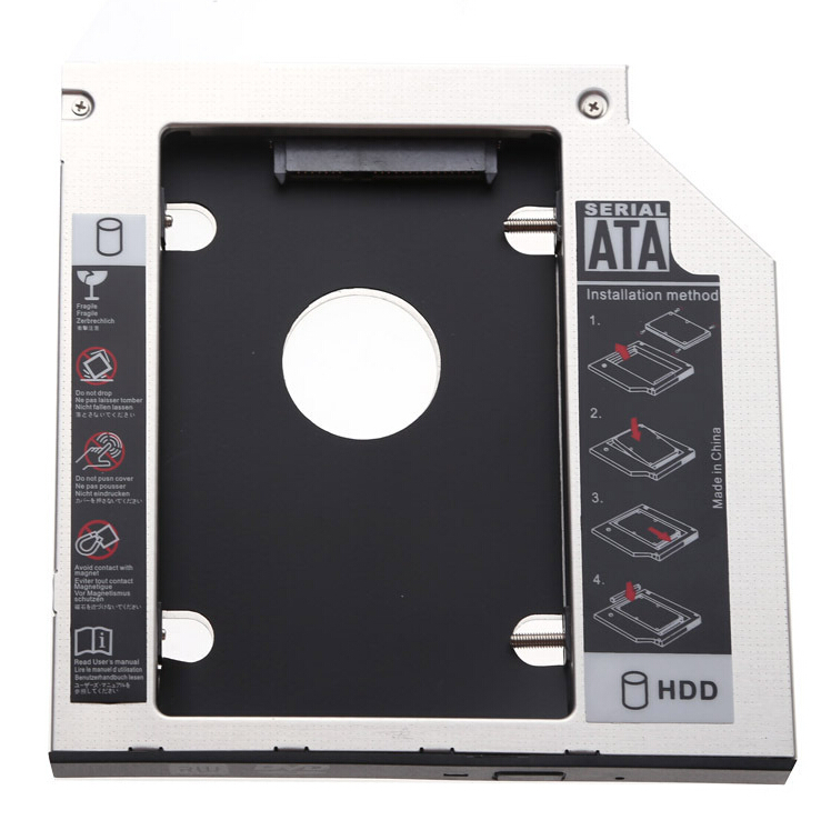 2nd HARD DISK DRIVE HDD SSD caddy For Dell Vostro 3300 3340 3350 3360 9.5mm SATA free shipping original laptop hdd hard drive disk hdd interface connector for dell for vostro v 3500 3300 3400