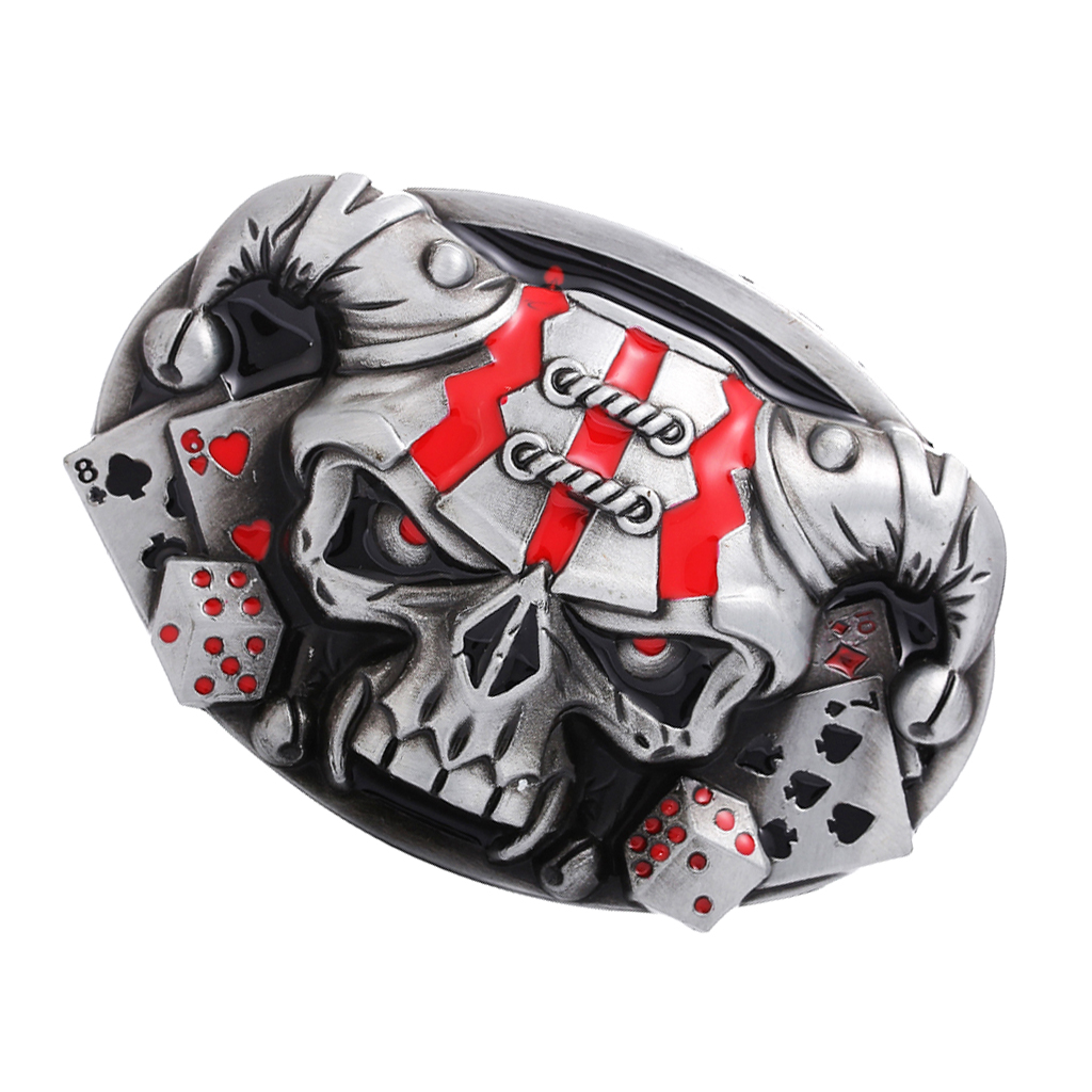Fashion Mens Male Punk Rock Metal Goth Evil Devil 3D Skull Head DIY Belt Buckle