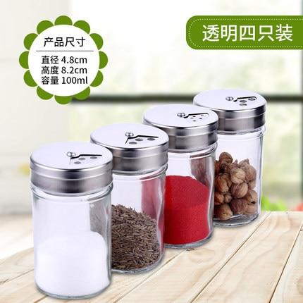 kichen glas kryddflaskor, kryddor / salt / peppar burkar, lock med - Hemlagring och organisation