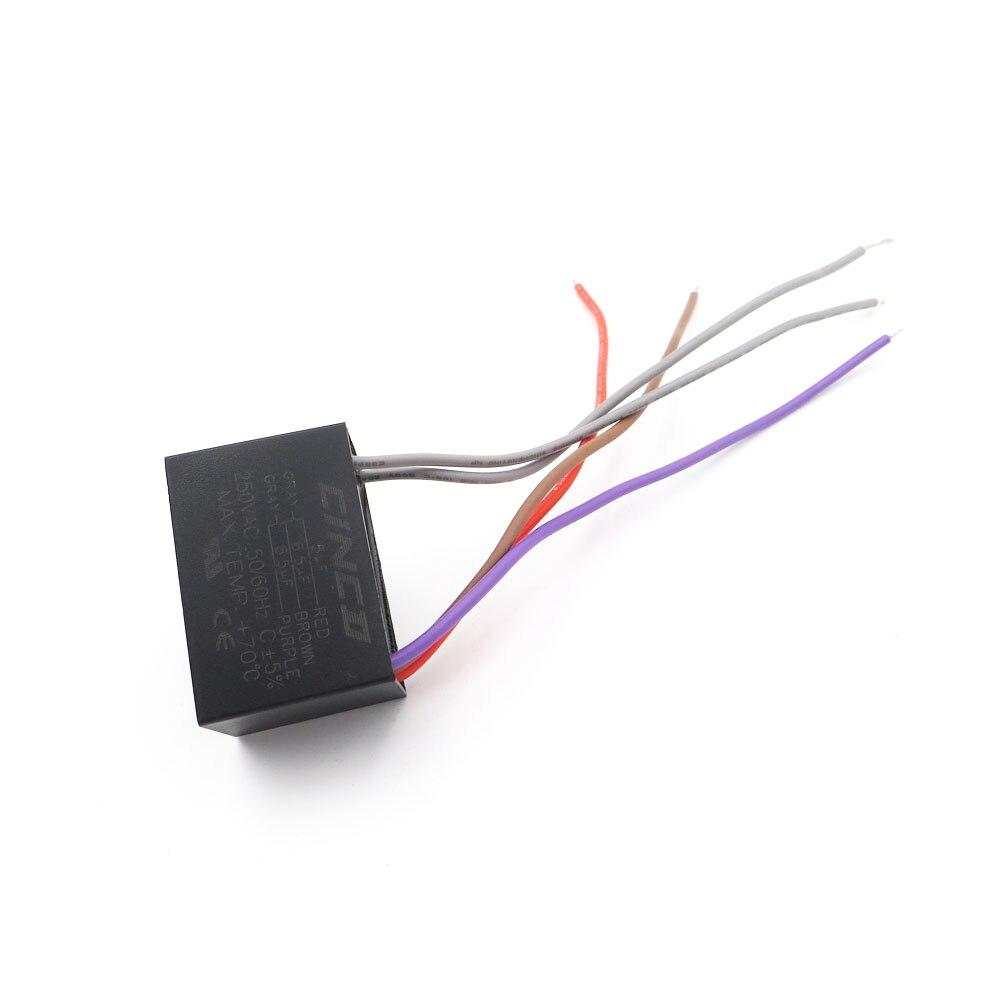 Das Beste Cbb61 5 Uf 6,5 Uf 250 V 5 Drähte Motor Run Kondensator Elektrische Fan 3/ 4/5 Geschwindigkeit Elektrische Fanners Elektronische Regler Kabel SchöN In Farbe 6,5 Uf