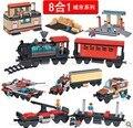 Woma J5706 estación de tren 8 en 1 de plástico Building Block Sets 721 unids Bricks educación de bricolaje juguetes para los niños