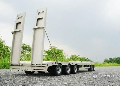 Remorque en métal Plaque 887.6*190*78mm pour LESU TAMIYA 1/14 Camion RC Modèle Voiture