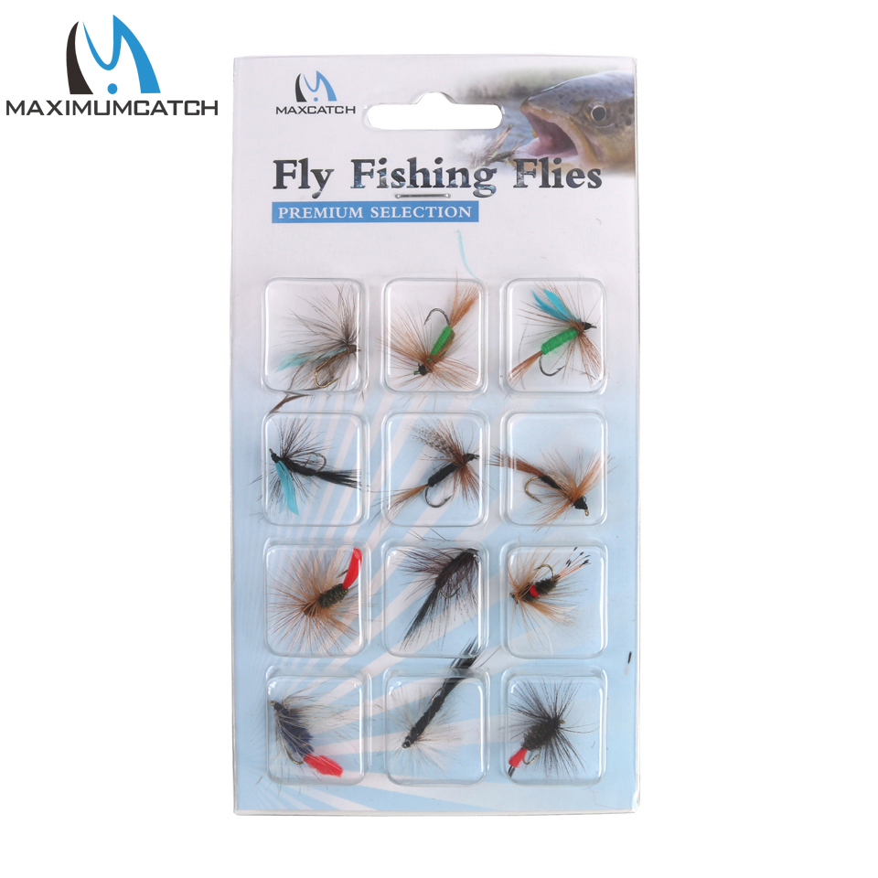 Maximumcatch 12 Pieces Dry Flies Economic Fly Selection Fly Fishing Lures economic methodology