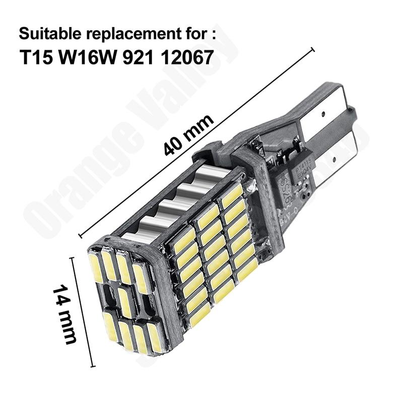 2PCS Super Bright T15 W16W 921 45 SMD LED 4014 Car Auto Canbus Reverse Light Reversing Lighting Back up Lamp