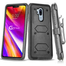 Heavy Duty Hybrid Rugged Case For LG G7 ThinQ / LG G8 ThinQ Shockproof Hard Fundas With Belt Clip Holster Cover waterproof rugged mobile device protection holster case with clip