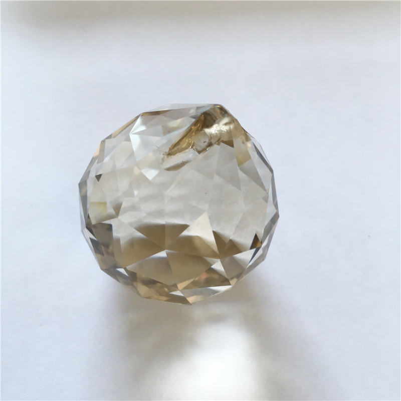 Top Quality 30pcs 40mm One Hole Cognac Crystal Chandelier Balls Glass Prism Balls Glass Chandelier Parts For Home Decoration