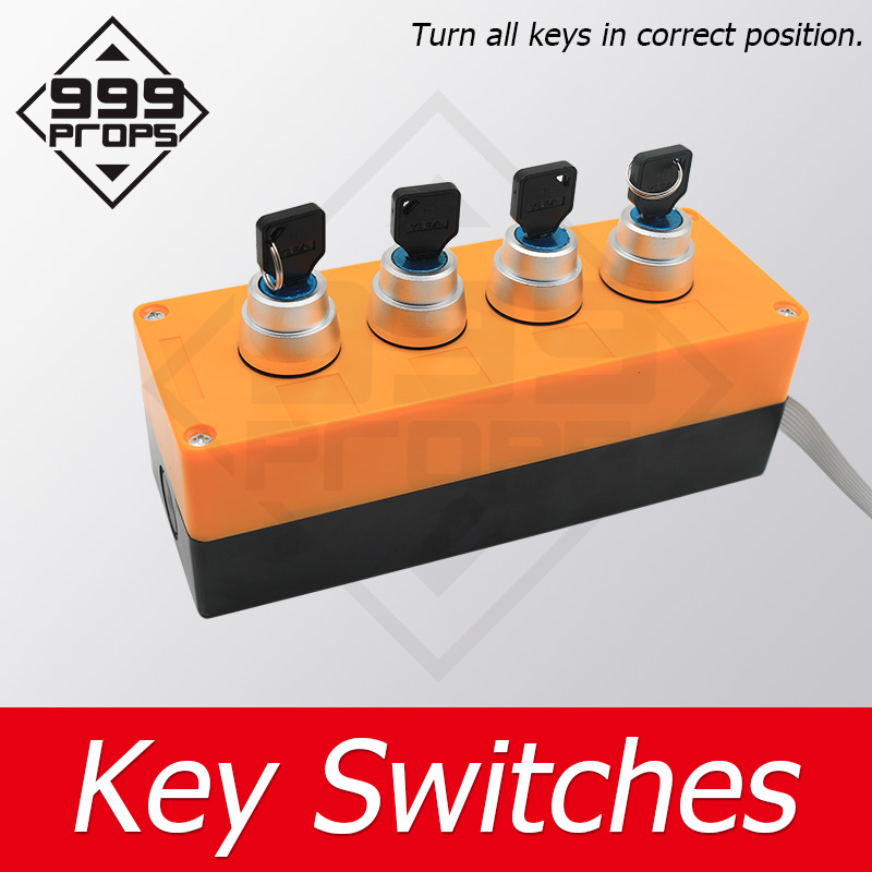 999PROPS Several Holes Key Switch real escape room prop find and turn all keys to right position to unlock game manufacture