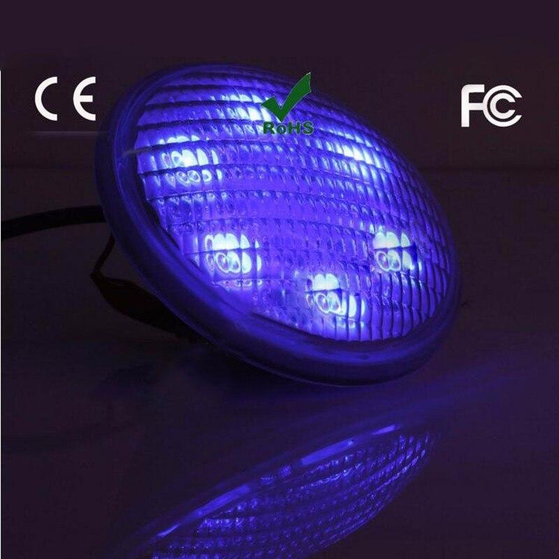 5 pcs/lot Par56 RGB 72 w Lumière Sous-Marine Étang Fontaine LED Piscine Lampe AC12-24V Étanche IP68 Inoxydable