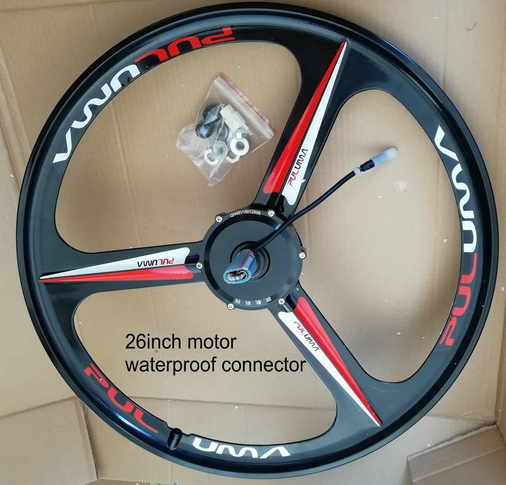 26inch brushless motor and magnesium alloy wheel built in 1 for electric bike Mountain bike 36v48v 240w 350w intelligent bike