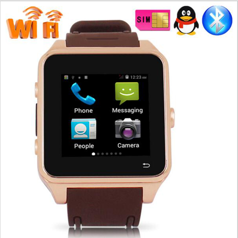Newest 3G Smartwatch Phone Android 4.4 MTK6572 Quad Core 1.2GHz 512MB RAM 4GB ROM 1.54 inch WiFi Bluetooth GPS smart watch S82