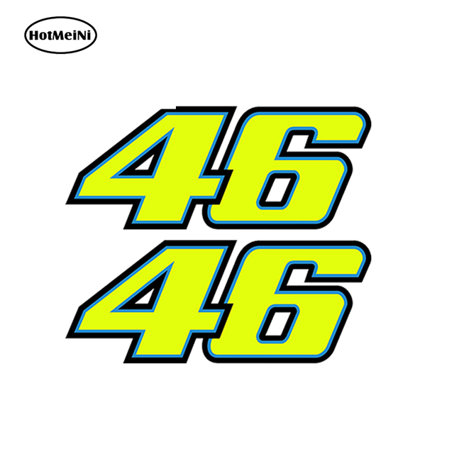Car Sticker 3D Number 46 Valentino Rossi Moto The Doctor VR46 Wheel Hub Helmet Motocross