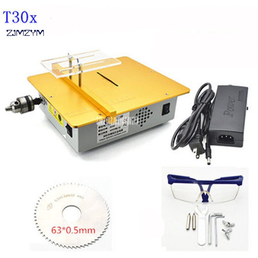T30X Miniature multi-purpose table saw PCB board cutting machine 8500r/min Small woodworking metal saws Model table saw DC12-24V