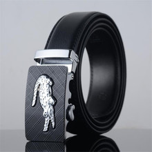 Hot Men's Belt crocodile LOGO Automatic buckle Gold silver Boby width 3.5CM business leather Designers high quality luxury