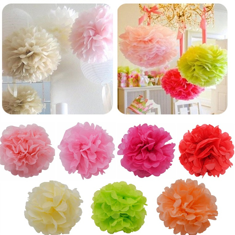 5pcs 10 25cm tissue paper pom pom ball hanging paper flower garland 5pcs 10 25cm tissue paper pom pom ball hanging paper flower garland diy baby shower wedding party decoration craft diy supplies in artificial dried mightylinksfo