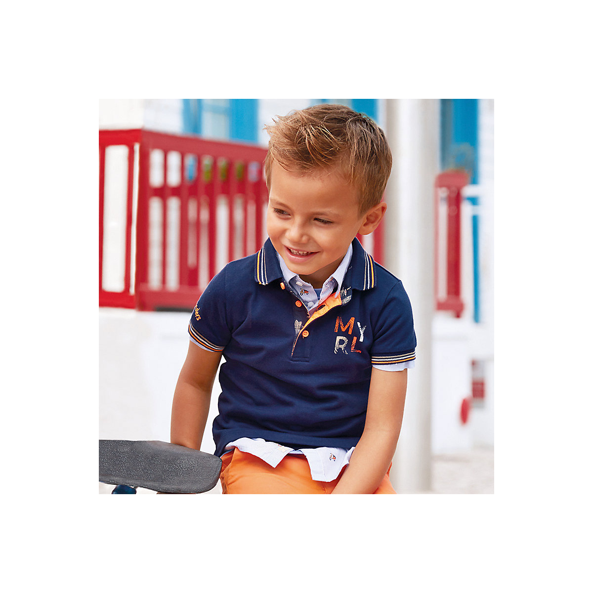 T-Shirts MAYORAL 10681340 Children sClothing T-shirt with short sleeves polo shirt for boys and girls short sleeve letter print loose fitting t shirt