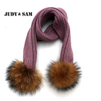 Eight Colors Cute Children Soft Warm Scarves Brand Winter Must Have Appareal Accessories Knitted Scarf Fur