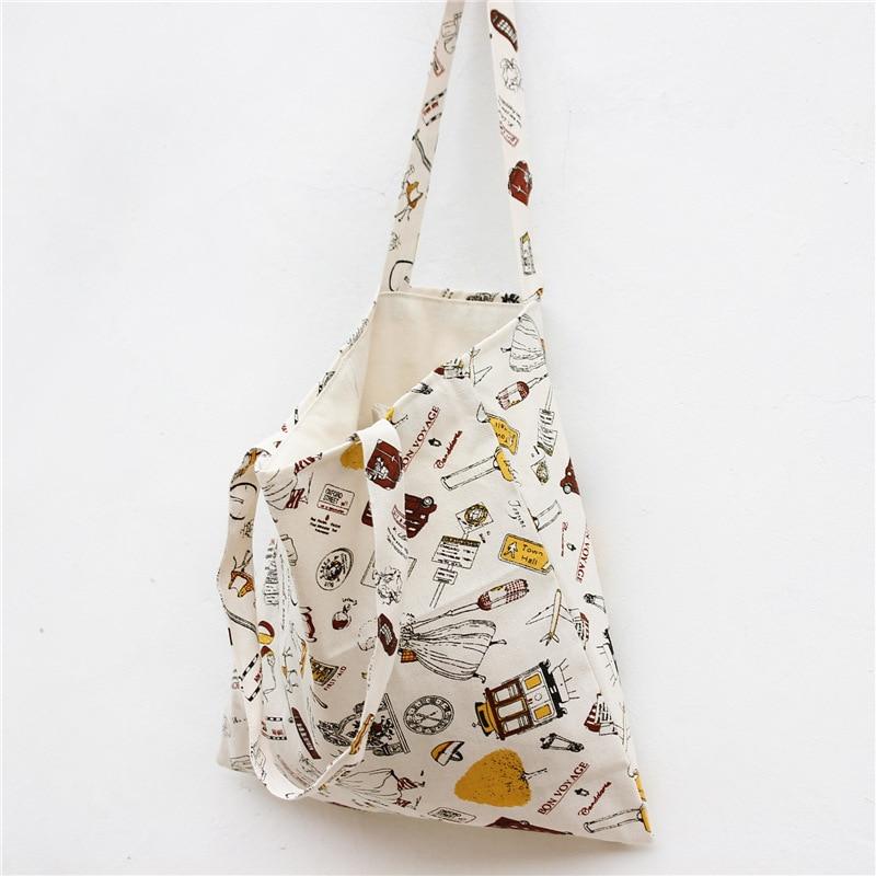 Cartoon Linen Storage Bag Clothing Underwear Cosmetic Organizer Bags Drawstring Housekeeping Stationery Floral <font><b>Simpson</b></font> <font><b>Handbag</b></font>