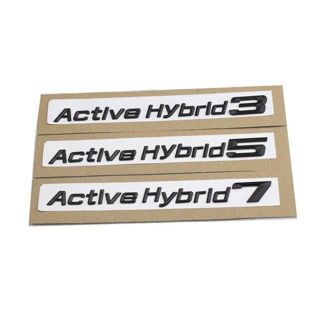 1set asian black for bmw performance active hybrid 3 5 7 trunk bumper number letters badge