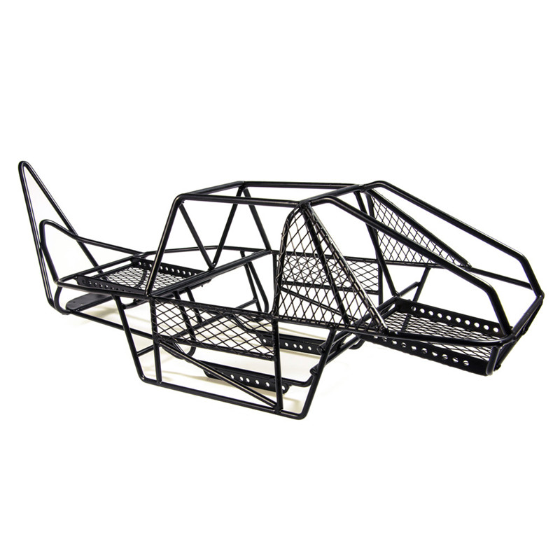 Black 1/10 Scale RC Rock Car Xtra Speed V Steel Roll Cage Frame Body ...