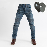 2018 Komine pk718 Knight Trousers Moto Jeans Slacks Jeans Motorcycle Ride Jeans Leisure Loose Version With Protective Equipment