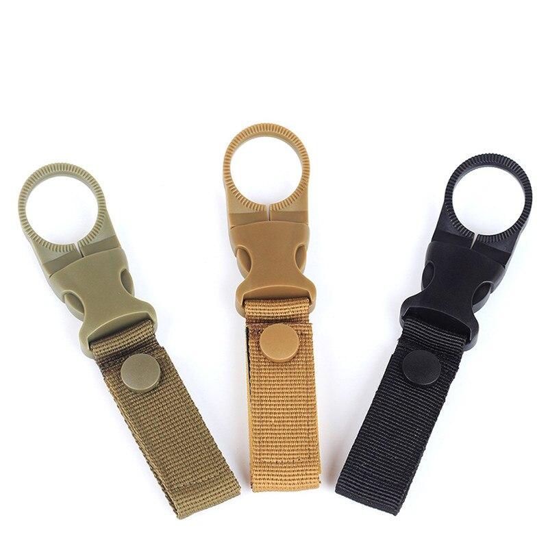 Hiking Nylon Webbing Buckle Hook Water Bottle Holder Clip Climbing Carabiner Belt Backpack Hanger Hooks Outdoor Tools
