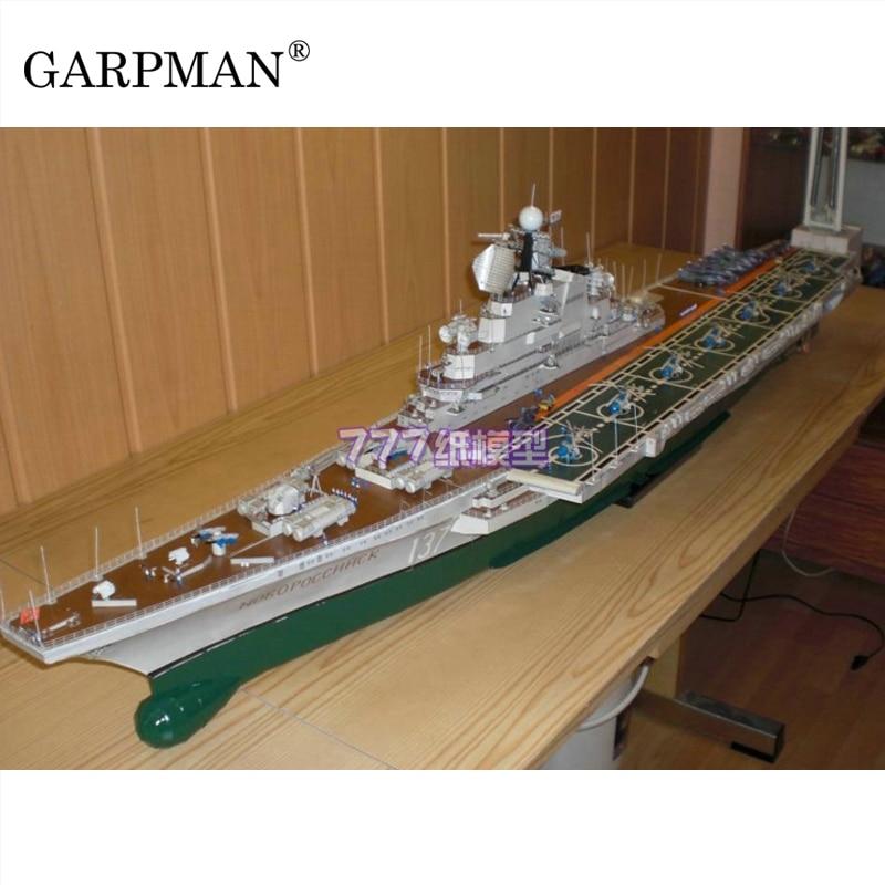 1:200 USSR Kiev Class Novorossisk Aircraft Carrier Paper Model Military Ship Paper|Card Model Building Sets| |  - title=
