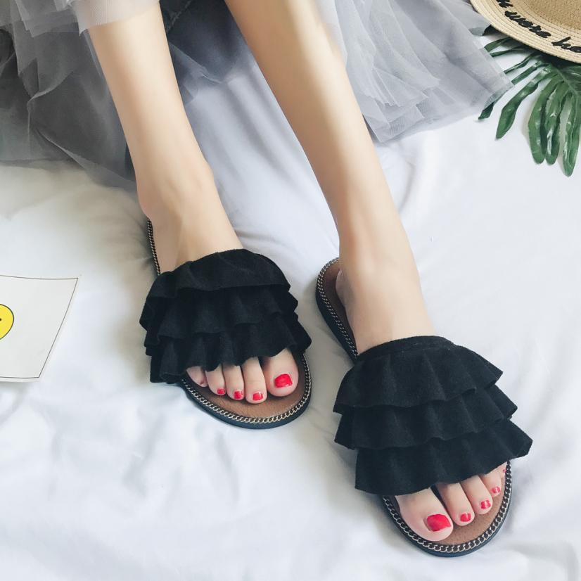 Summer Casual Sandals Gladiator Fashion Women Slippers High Quality Flats Flip-flops Open Toe Beach Shoes Size 35-40 Footwear サンダル レディース