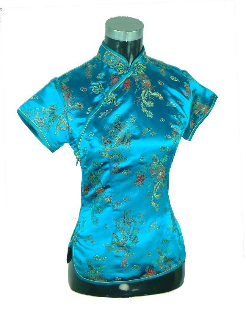 Stylish Tops Collection 2013 For Girls: Aliexpress.com : Buy Stylish Blue Chinese Ladies' Rayon