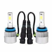 H11 Headlight Conversion 8000LM 80W COB 6500K LED White Light Bulbs Waterproof #T518#