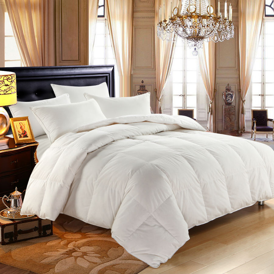 peter khanun winter comforter white goose down quilted bedding king queen twin home - King Down Comforter