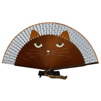 Japanese Style Cat Folding Fan