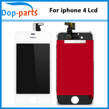 цена на 50PCS/LOT Black and White LCD For iphone 4 LCD Display Genuine A+++ Replacement with Digitizer Assembly LCD Screen Display