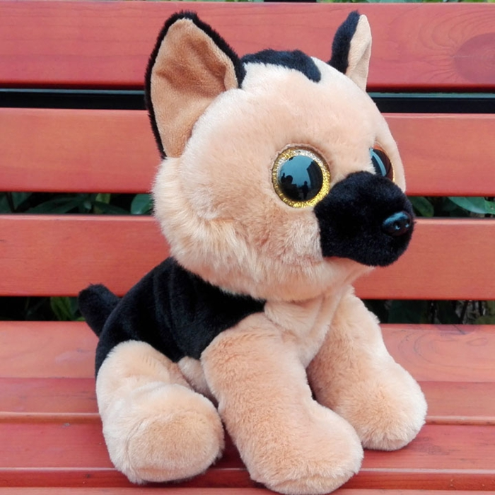 Kawaii Big Eyes Stuffed Animal Cute Simulation Sheepdog Doll Children's toys Good Quality Gifts