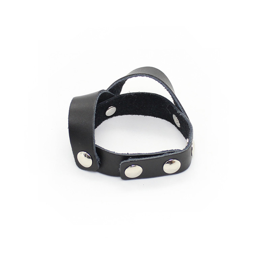 Buy PU Leather Penis Rings Penis Extender Sleeves Cock Ring S&M Sex Toy Couples Adult Products Men Male Ball Stretcher Cockring