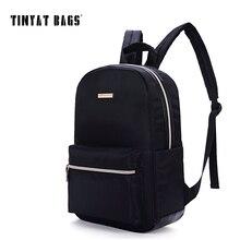 Tinyat schwarz rucksack für frauen wasserdichte nylon kleine rucksack rucksack girls school-buch-tasche umhängetasche mochila y101