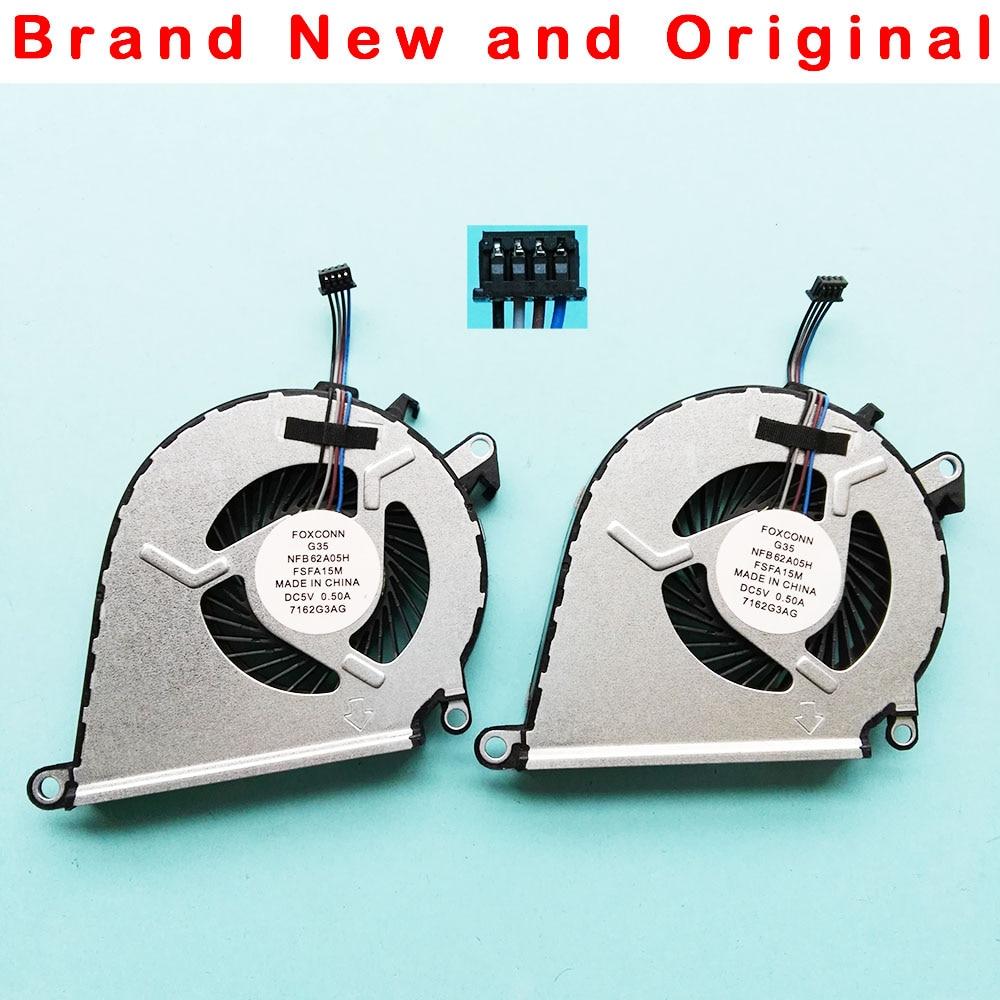New Original Cpu Gpu Fan For Hp Omen 15 Ce 17 An Cooler G3a Foxconn 12v Wire Diagram Cooling G35 Nfb62a05h Fsfa15m Dc5v 05a 4pin