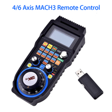 Aluminum alloy CNC Handwheel Wireless Electronic Handwheel 6-Axes Controller Manual Pulse Generator MPG for CNC MACH3 NEW fanuc a860 0203 t001 encoder mpg pulse generator electronic handwheel original authentic hand pulse generator a860 0203 t001