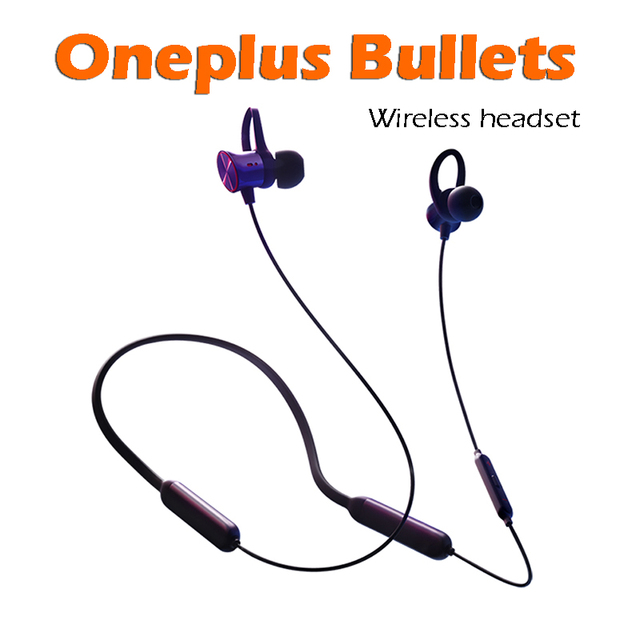 40453c2740d Original oneplus Bullets Wireless headset in-ear With Remote Mic for Oneplus  6/5T /5/3T/3 Mobile Phone 1+6 Retail Box