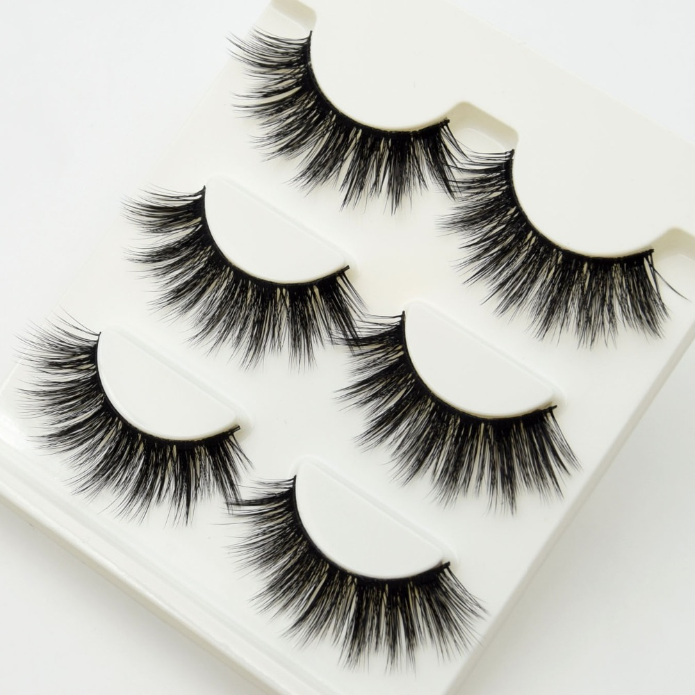 3 Pairs Lashes 3d False Eyelashes Crisscross Thick Natural Fake Eye