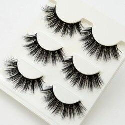 3 pairs Lashes 3D False Eyelashes Crisscross Thick Natural Fake Eye Lashes Professional Makeup Long False Eye Lashes 11 styles