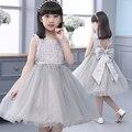 НОВЫЕ летние девушки платье формальная одежда Девушки Партия Свадьба День Рождения Туту Платья Лук Платье Принцессы 10 возраст девочка одежда