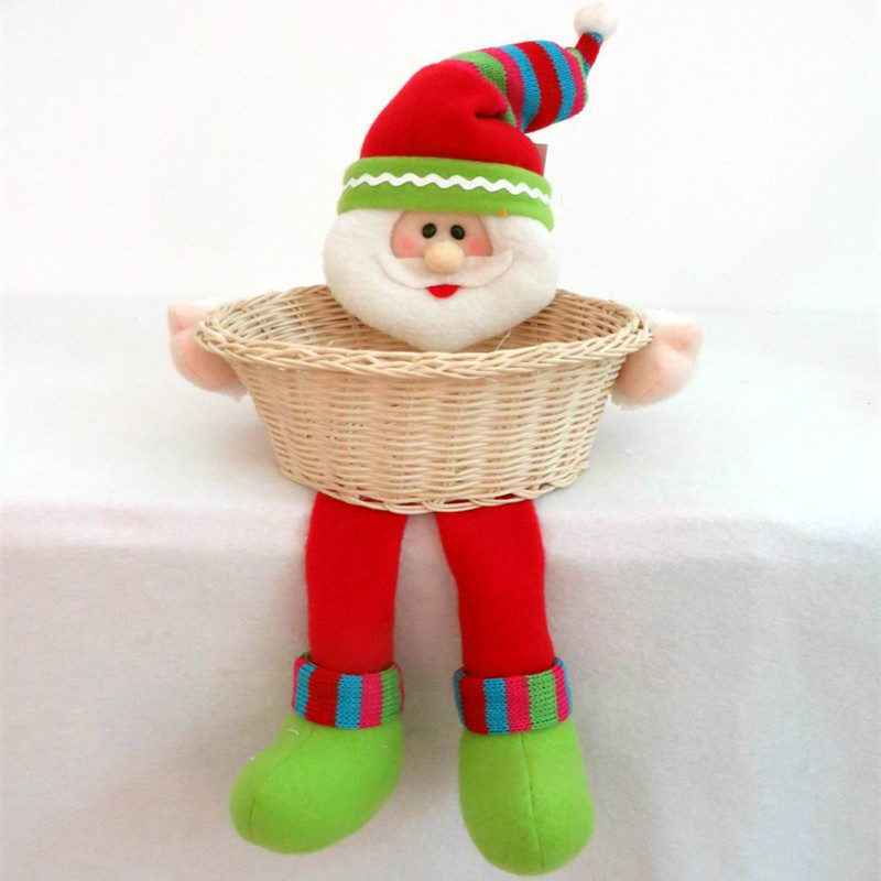 santa claus doll christmas baskets child supplies crafts home decorative items for christmas decoration in pendant drop ornaments from home garden on