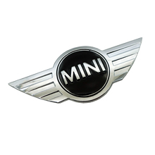 metal 3d MINI Car Badge Emblem logo Stickers For Mini Cooper CABRIO WORKS S Front head cover Rear head box Badge Decals Stickers