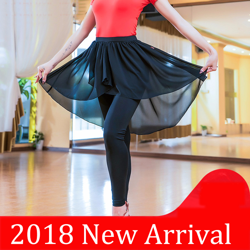 New Original Latin Dance Skirts For Ladies Black Elegant Professional Women Square Showing Ballroom Tango Costumes Y10585